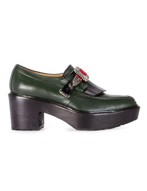 Toga Pulla | Женское Зелёный Chunky Heel Loafers