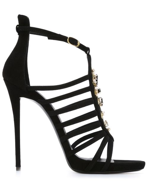 Giuseppe Zanotti Design | Женское Чёрный Strappy Stiletto Sandals