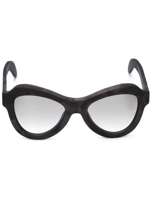 KUBORAUM | Женское Чёрный Mask Y2 Sunglasses