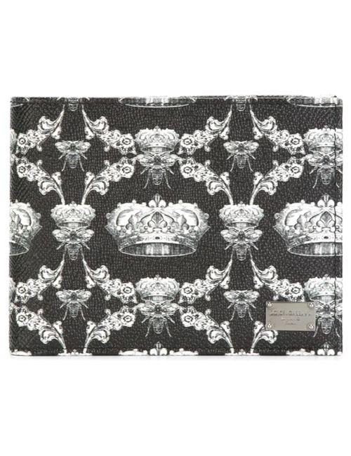 Dolce & Gabbana   Мужской Чёрный Бумажник Dauphine