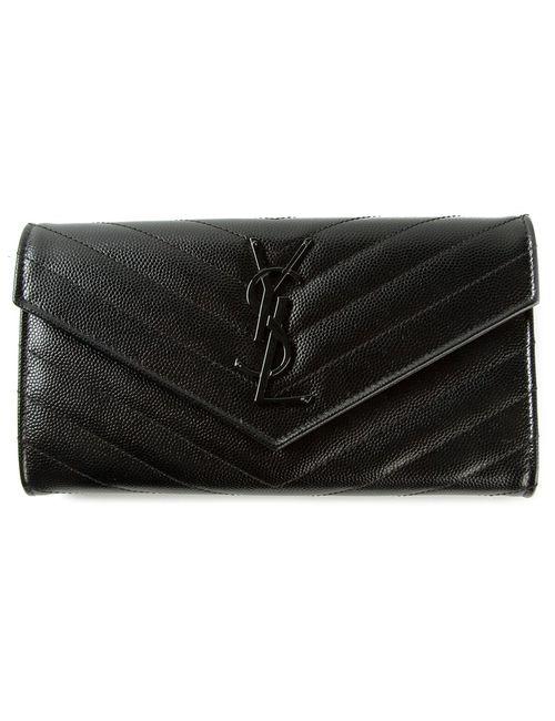 Saint Laurent   Женское Чёрный Monogram Wallet