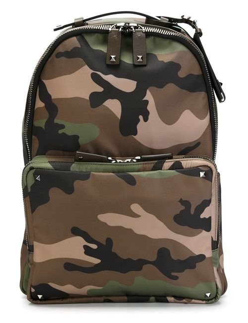 Valentino Garavani | Женское Зелёный Camouflage Backpack