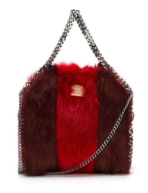 Stella Mccartney | Женское Красный Small Falabella Faux-Fur Tote
