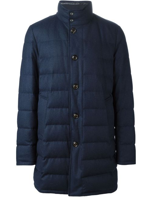 Moncler | Мужская Синяя Дутая Куртка
