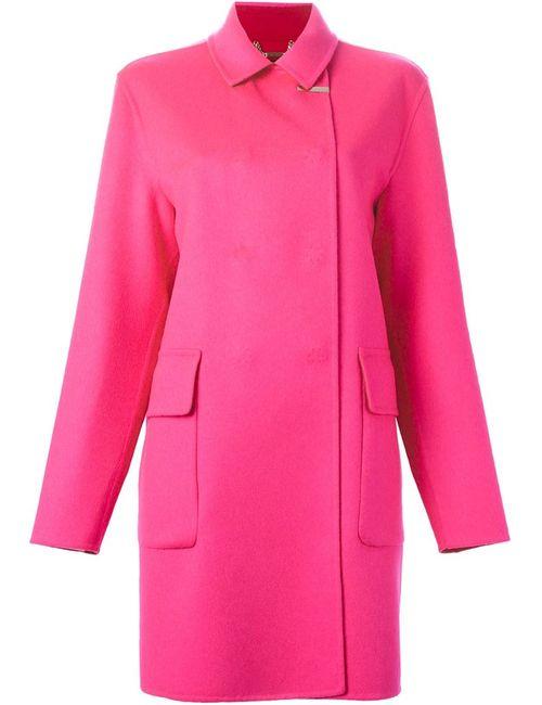 Versace | Женское Розовое Пальто Со Смещенной Застежкой