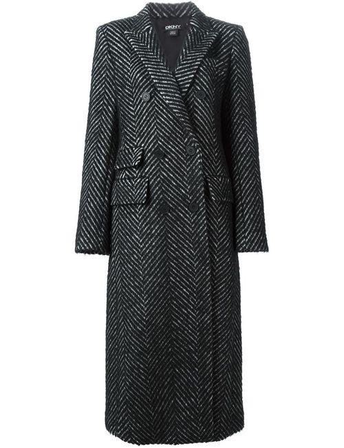 DKNY | Женское Черный Пальто В Елочку