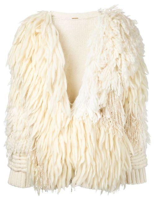 Adam Lippes | Женское Белый Fringed Knitted Coat