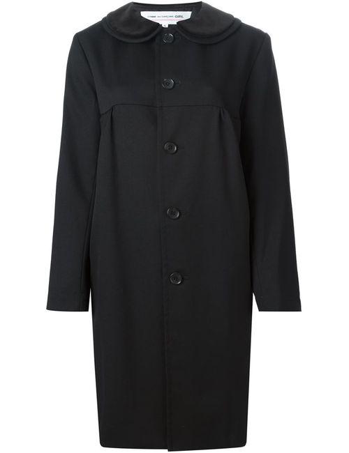 Comme Des Garcons | Женское Черный Пальто С Воротником Питер-Пэн