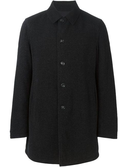 Z Zegna | Мужское Чёрное Однобортное Пальто