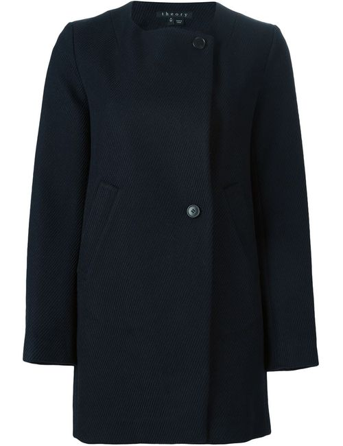 Theory | Женское Синее Короткое Пальто Venizka