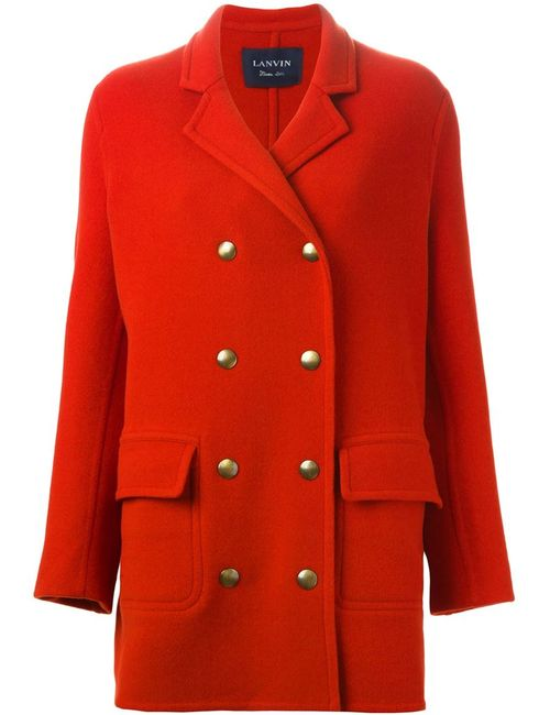 Lanvin | Женское Красное Классическое Пальто