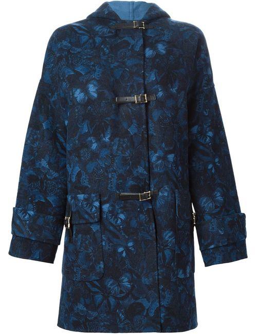 Valentino | Женское Синее Пальто Camubutterfly
