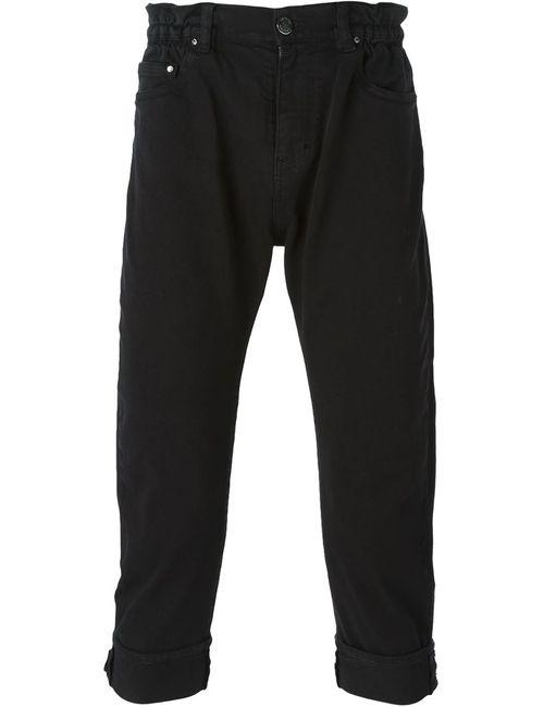 Les Hommes | Мужское Чёрный Turn Up Hem Cropped Jeans