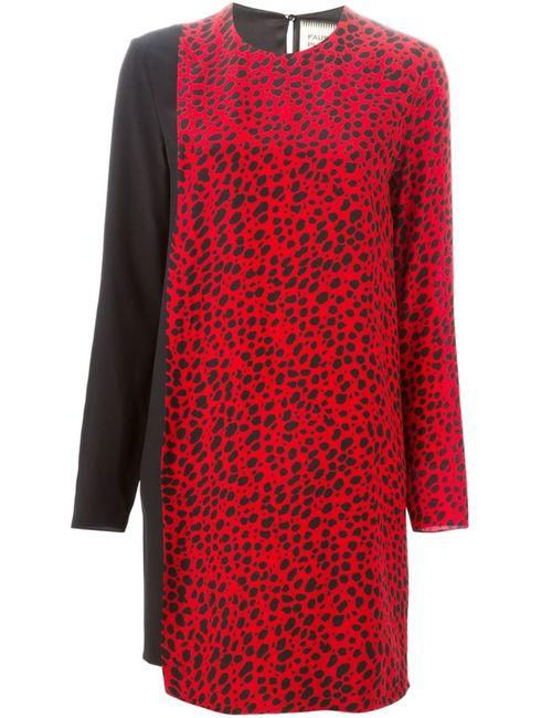 Fausto Puglisi | Женское Красное Платье Шифт С Принтом