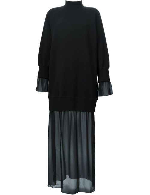 MM6 by Maison Margiela | Женское Чёрный Mm6 Maison Margiela Sheer Layer Sweatshirt Dress