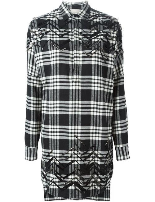 Laneus | Женская Чёрная Рубашка В Клетку
