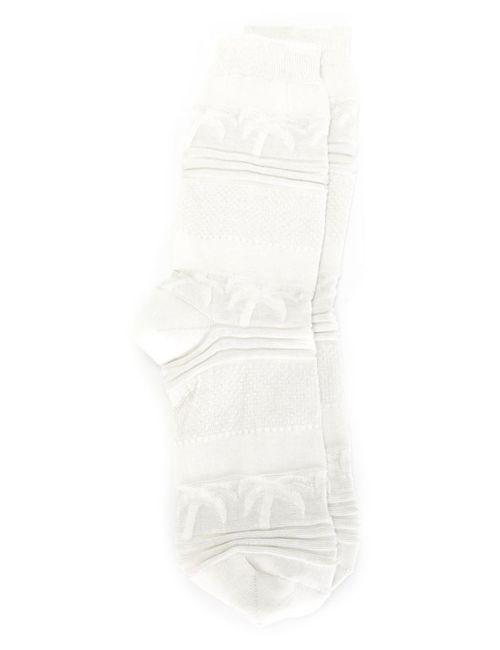 Julien David   Мужские Белые Носки С Пальмами