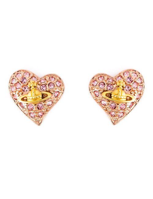 Vivienne Westwood | Женское Розовый Diamante Heart Stud Earrings