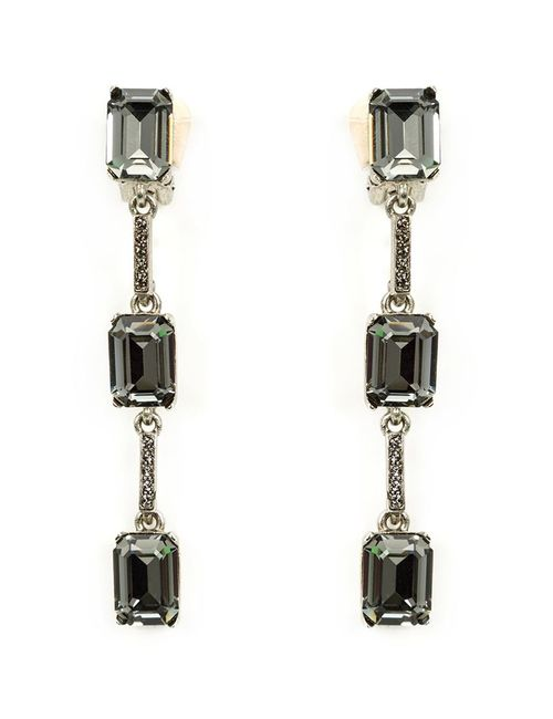 Oscar de la Renta | Женское Зелёный Triple Octagon Clip-On Earrings