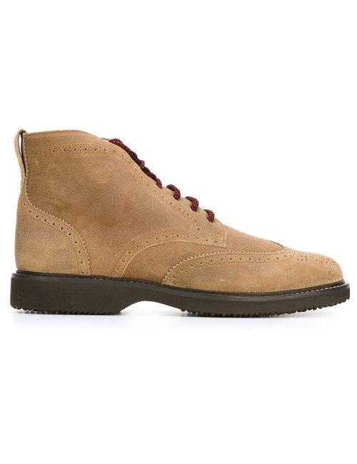 Hogan | Мужские Коричневые Ботинки С Меховой Отделкой