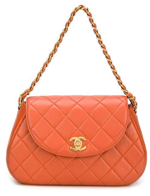 Chanel Vintage | Женская Жёлтая Стеганая Сумка На Плечо