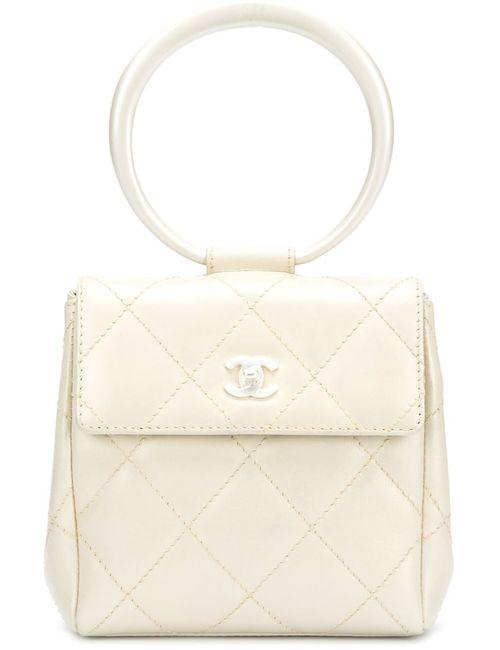 Chanel Vintage | Женский Белый Клатч С Ручкой-Кольцом