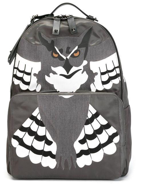 Valentino Garavani | Мужское Серый Owl Applique Backpack