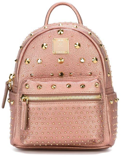 MCM | Женский Розовый Декорированный Рюкзак С Заклепками
