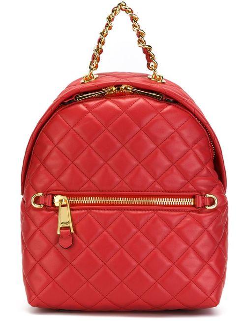 Moschino | Женский Красный Стеганый Рюкзак