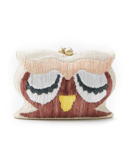 SERPUI | Женское Nude & Neutrals Owl Woven Clutch