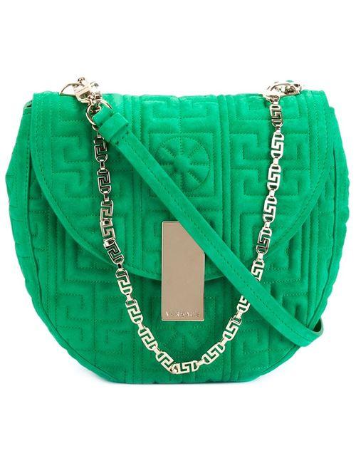 Versace   Женское Зелёный Greek Shoulder Bag