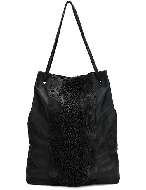 Vera Wang | Женская Чёрная Декорированная Сумка-Тоут