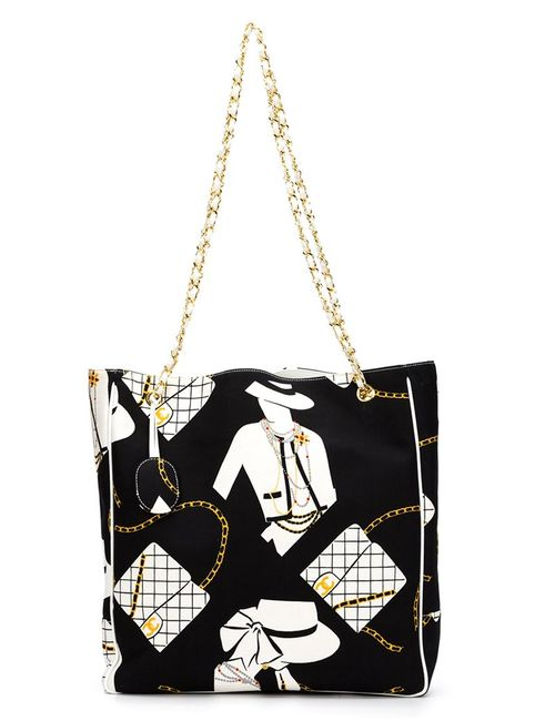 Chanel Vintage | Женское Чёрный Coco Chanel Print Tote