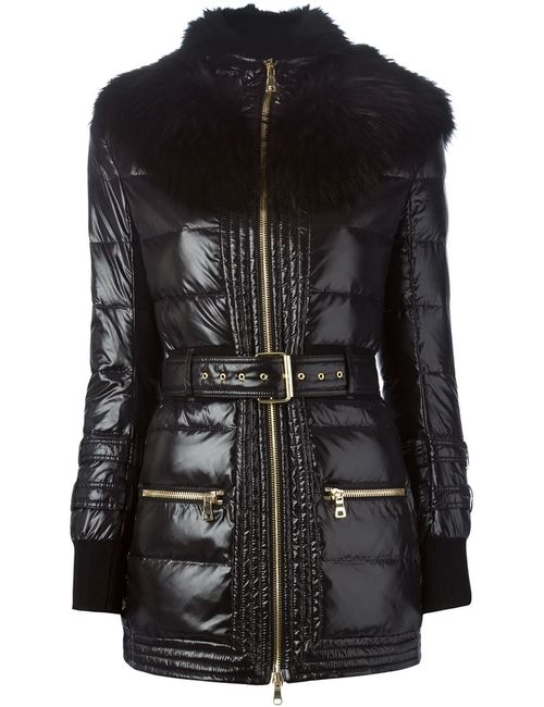 Balmain | Женское Чёрный Raccoon Fur Trim Padded Coat
