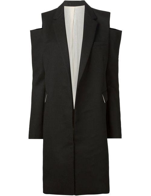 Vera Wang | Женское Чёрный Cut Shoulder Coat