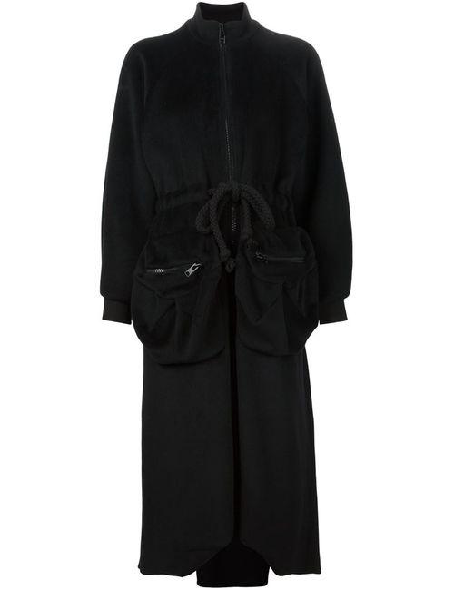 MICOL RAGNI | Женское Черный Длинное Пальто С Объемными Карманами