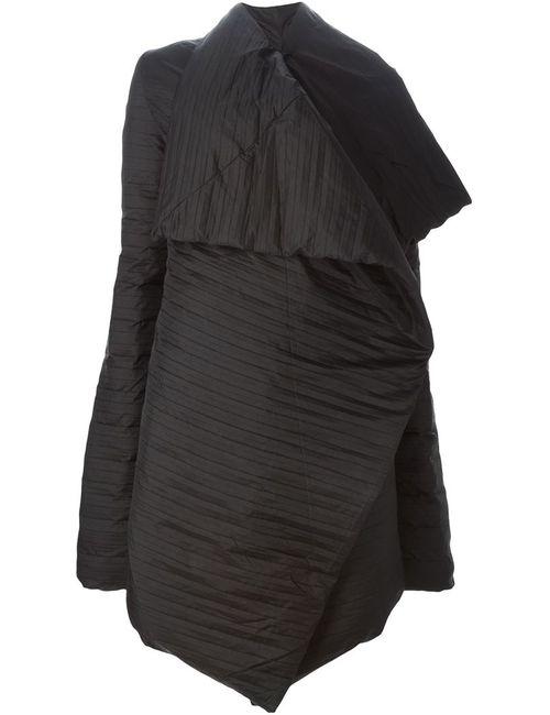 Rick Owens   Женское Чёрное Свободное Драпированное Пальто