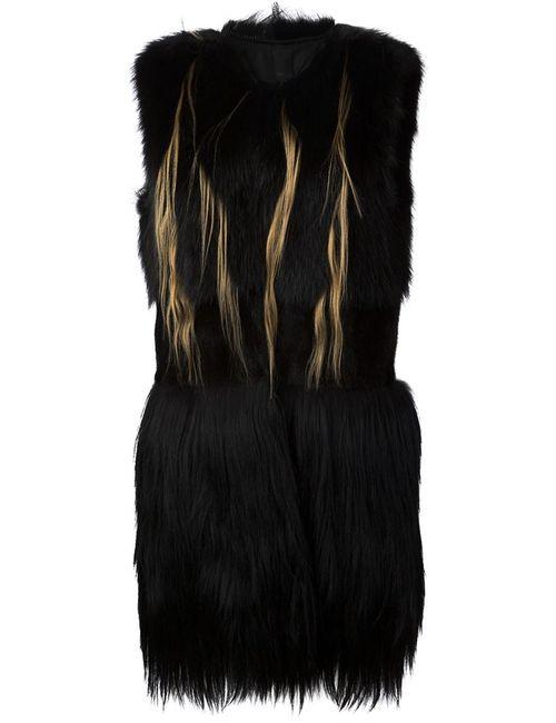 Vera Wang | Женское Чёрный Long Fur Gilet