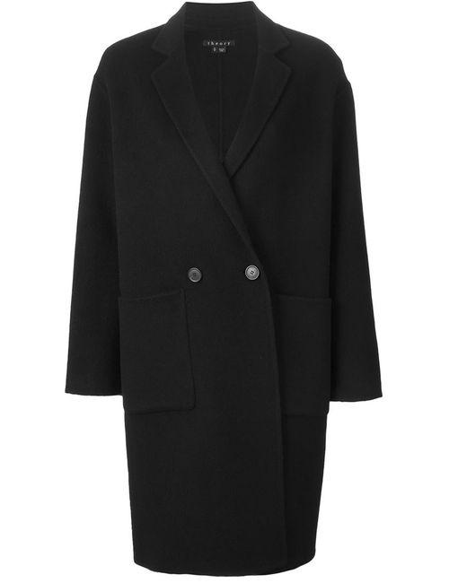 Theory | Женское Черный Двубортное Пальто
