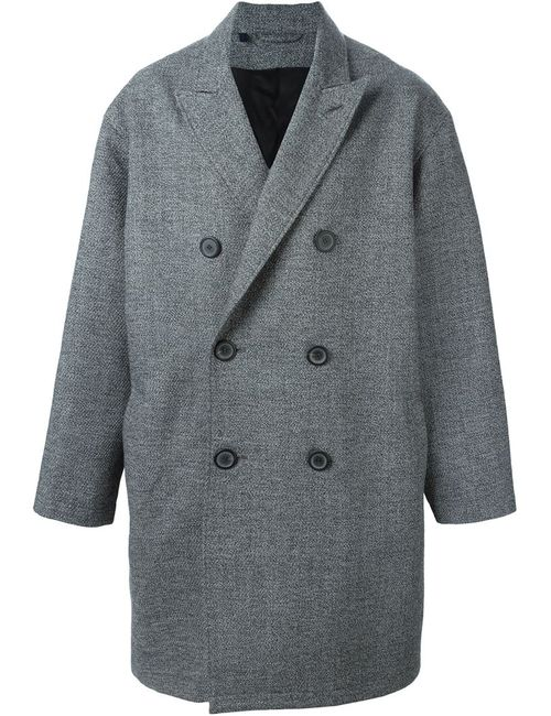 Lanvin   Мужское Серое Двубортное Пальто