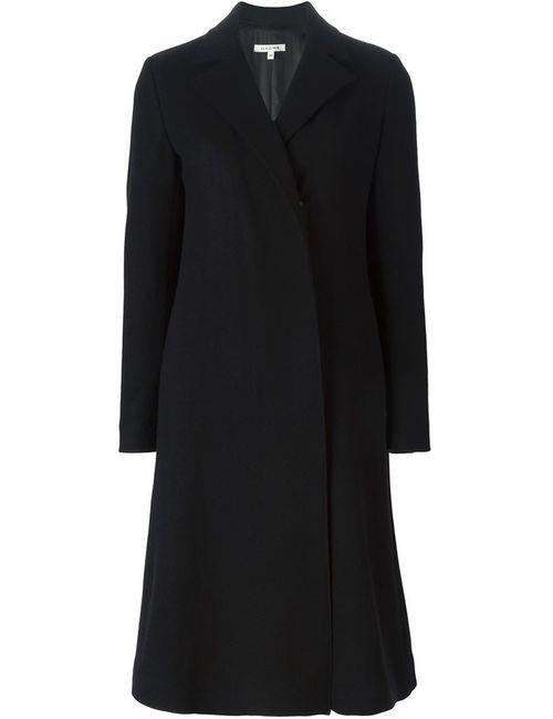 Hache | Женское Чёрное Пальто С Открытым Передом