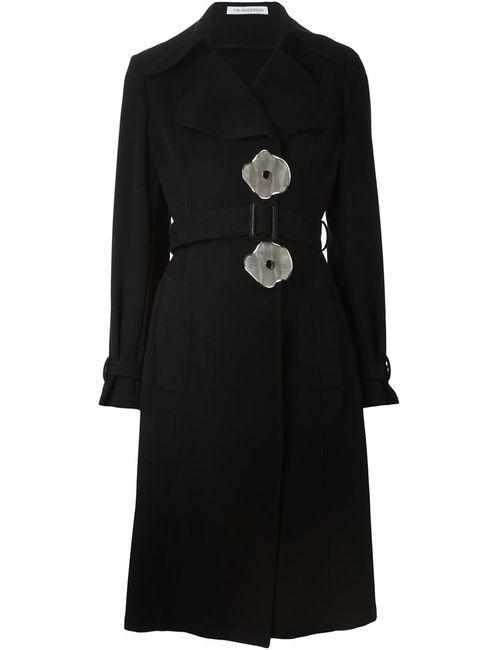 J.W. Anderson | Женское Черный Пальто С Пуговицами В Форме Цветков