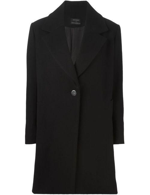 Anthony Vaccarello | Женское Чёрное Классическое Пальто Прямого Кроя