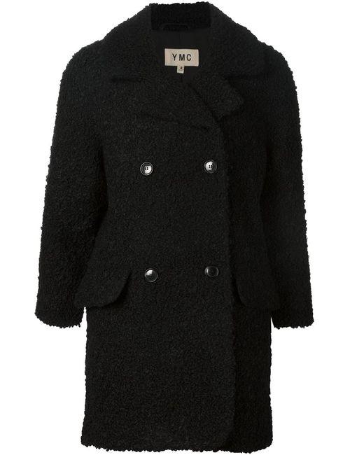 YMC | Женское Чёрное Двубортное Пальто Из Букле