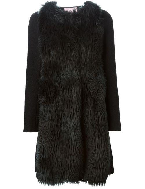 GIAMBA | Женское Черный Пальто Из Искусственного Меха
