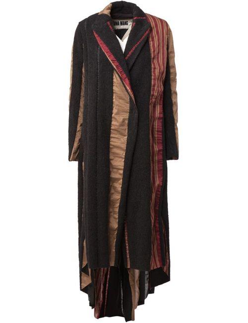 UMA WANG | Женское Чёрный Patchwork Velvet Coat