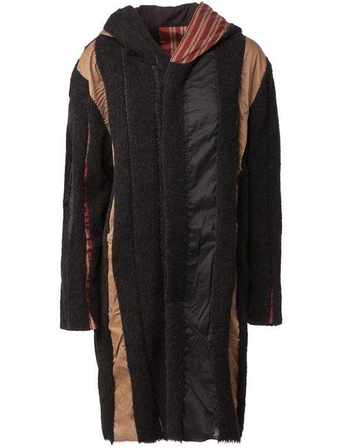 UMA WANG | Женское Чёрный Patchwork Oversize Coat