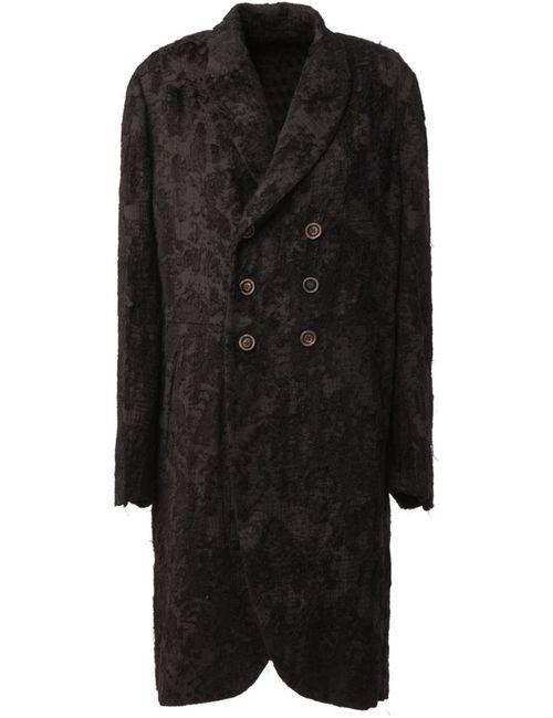 UMA WANG | Женское Чёрный Brocade Double Breasted Coat