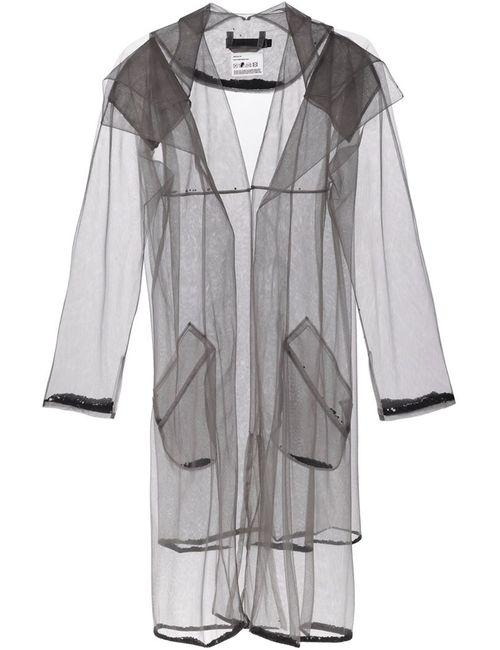 PHOEBE ENGLISH | Женское Серое Длинное Прозрачное Пальто