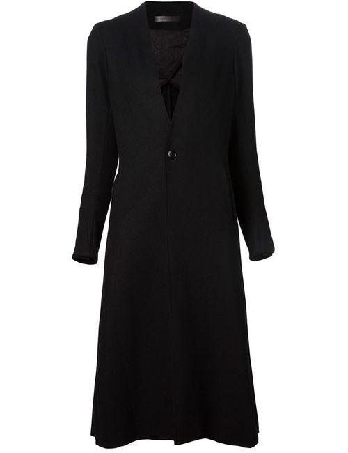 A TENTATIVE ATELIER | Женское Чёрное Удлиненное Расклешенное Пальто